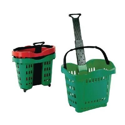 Giant Shopping Basket/Trolley Green SBY20755.