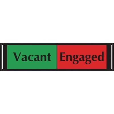 Stewart Superior Sign Sliding Sign Vacant/Engaged Self Adhesive 225 x 52mm