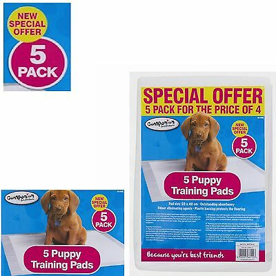 Puppy Training Pads - 5 Pack odour eliminating agents UK