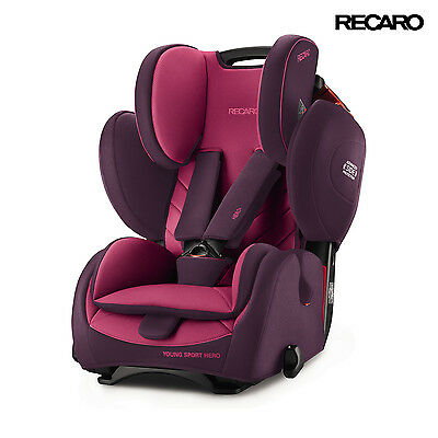 2016 Recaro Young Sport Hero Power Berry Child Seat (9-36 kg) (19-79 lbs)