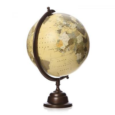 30cm World Globe Rotating Planet Swivel Earth Map Atlas Geography Vintage Gift