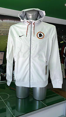 Giacca Vento Calcio Jacket Authentic Windrunner Nike Roma 2016/2017 Lupa Bianco