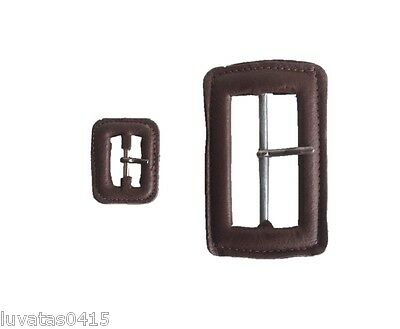 Leather Classic Buckle with Pin Snap On Replacement Spare 22 mm or 60 mm