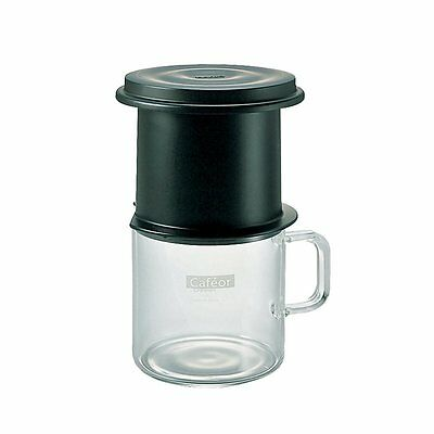 New! Hario CFO-1B Cafeor Permantent Filter Drip Brew Coffee Maker 200ml for 1cup