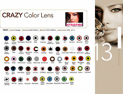 Halloween Contact Color Lenses Crazy Lens MYSA LENS 12 Months + Free Case
