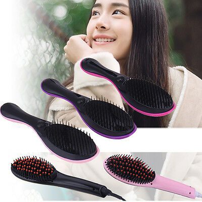 Hair Straightening Brush Auto Electric Straightening Comb LCD Straightening Tool