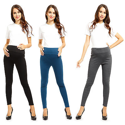 Womens Pregnancy Maternity Over Bump Cotton Leggings Long Pants Casual Trousers