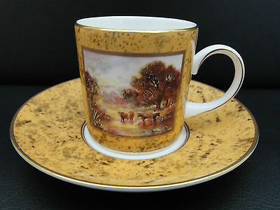 Coalport Fine Bone China Limited Edition Coffee Cup& Saucer - Pastoral