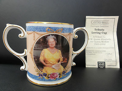 Caverswall 2 Handled Limited Edition Bone China Loving Cup - Farewell Tribute