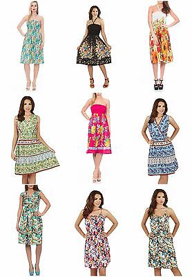 Wholesale Market Shop Ladies Womens Cotton Dresses Job Lot Resale 50 Pieces