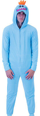 Adult Unisex Adult Swim Show Rick and Morty Mr. Meeseeks Onesie with Butt Flap