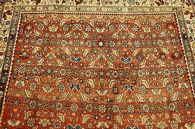 c1920's ANTIQUE PRSIAN BIJAR RUG 3.9x5.4 CLASSIC VILLAGE WOVEN_HIGHLY DETAILED