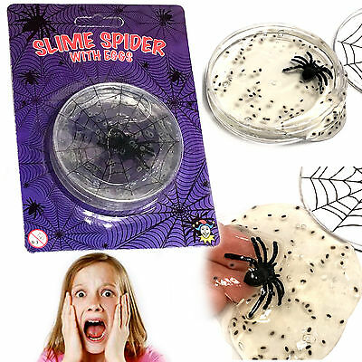 Slime Spider & Eggs Boys Gross Scary Toy Xmas Gift Fun Christmas Stocking Filler