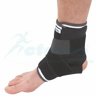 Universal Ankle Support with Strap Ideal for Sprains Strains or Sports Injury