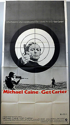 Get Carter - Michael Caine - Original American Three Sheet Movie Poster