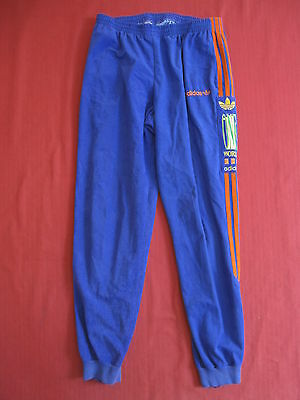 Pantalon survetement Adidas One World Violet orange Homme Vintage 80'S - 174 / M