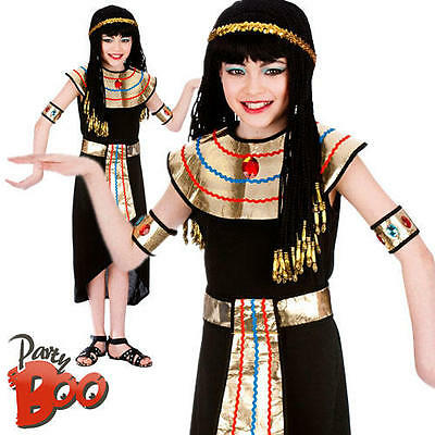 Egyptian Queen Age 11 12 13 Girls Fancy Dress Historical Book Child Kids Costume