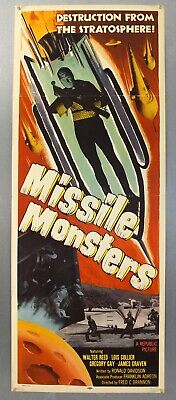 Missile Monsters - Walter Reed / Lois Collier - Original Usa Insert Movie Poster