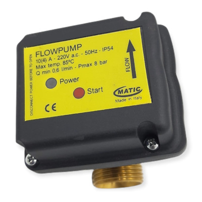 MATIC FLUSSOSTATO FLOWPUMP 220V 8 BAR 50Hz IP 54 Q MIN 0.6L/min INTERRUTTORE