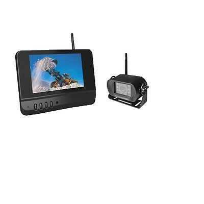 "Skid Steer KTH 2.4 Digital Wireless rear view Camera System with 7"" monitor"