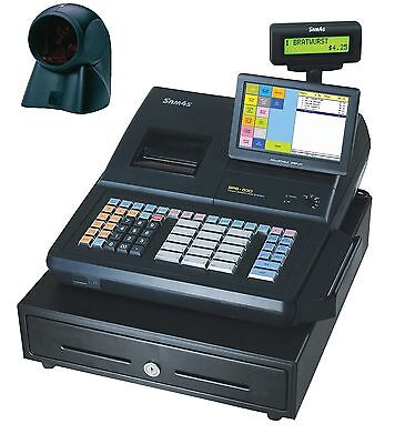SAM4S SPS-530RT Hybrid Electronic Cash Register with Touch Screen and Metrologic