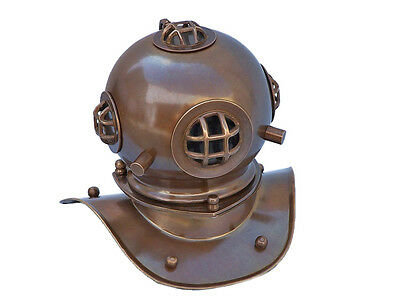 "Antique U.S Navy Brass Deep Sea Divers 9"" Decorative Diving Helmet New"