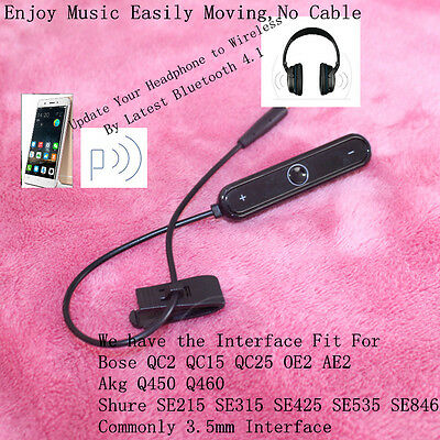 Bluetooth Audio Adapter Upgrade Wireless Cable for QC25 QC15 QC2 OE2 AE2 Headset