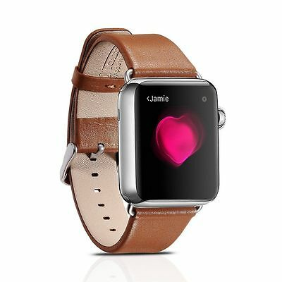 Genuine iCarer Luxury Genuine Leather Watchban for 42mm Apple Watch BROWN O1071