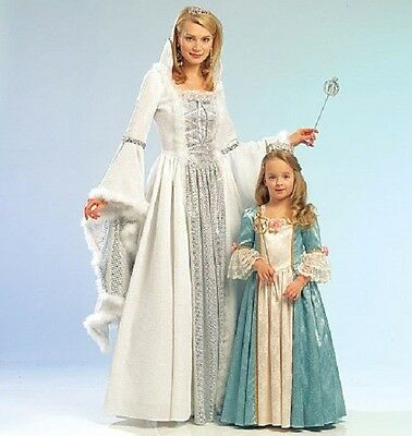 PATTERN for Colonial Princess costume Miss 8-22 Kids 3-8 McCalls 5731 Snow Queen