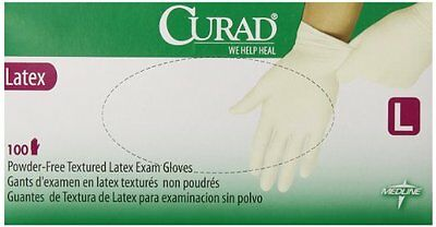 Curad Powder-Free Latex Exam Gloves, Large, 100 Count
