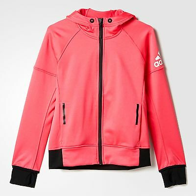 adidas girls pink zip up Daybreaker jacket. Hoodie. Hoody. Ages 7-8Y & 13-14Y