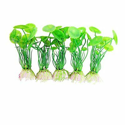 Sourcingmap Plastic Fish Tank Aquatic Plant Decoration, 10 x 3 cm, Green