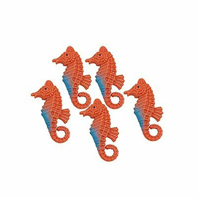 Sourcingmap Plastic Aquarium Floating Hippocampi Ornament, 5 Pieces, Orange/ Blu