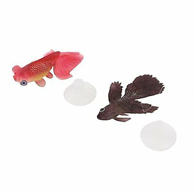 Sourcingmap TPR Aquarium Tank Suction Cup Simulated Glowing Goldfish Ornament, 2