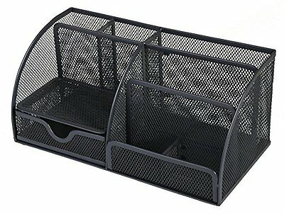 OSCO Wiremesh Desk Organiser - Charcoal