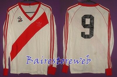 Great RIVER PLATE shirt MATCH WORN 1984/85 home #9 ALONSO Adidas