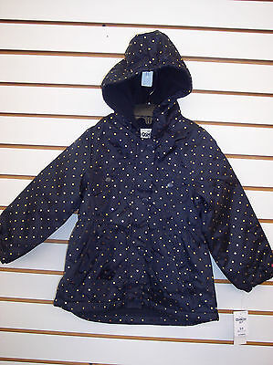 Toddler & Girls OshKosh B'gosh Navy w/ Gold Polka Dots Jacket Size 2T - 6X