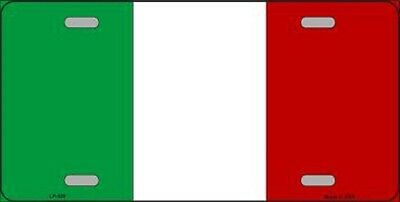 Italian Flag Italy Metal Novelty License Plate Tag