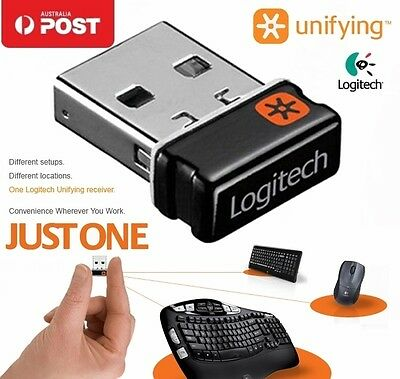 2.4G USB Dongle Receiver for Logitech Unifying Wireless Keyboard Mouse Win 8/10