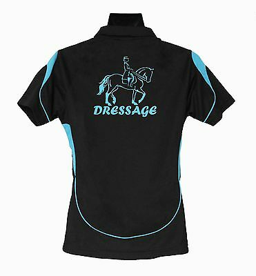 Horse Polo Shirt Dressage Rider Brand New #ps007