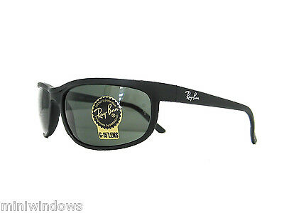 RAY BAN RB2027 W1847 Matte Black / Green 62mm NEW AUTHENTIC SUNGLASSES