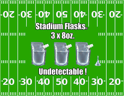 Tailgating flask football party alcohol liquor stadium supplies concealable 8z