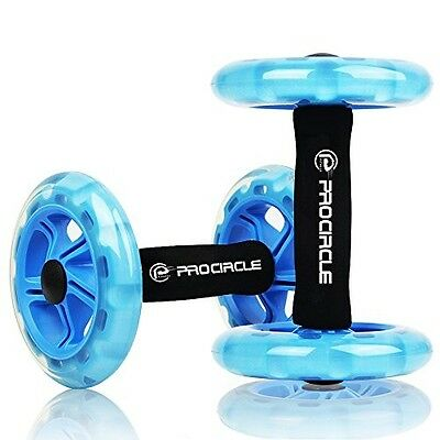 Double Ab Roller Wheel Core Training Workout Home Gym Full Body Stretch Exercise