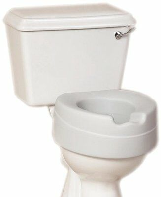 NRS Healthcare Comfort Foam Filled Raised Toilet Seat - 4 inches High