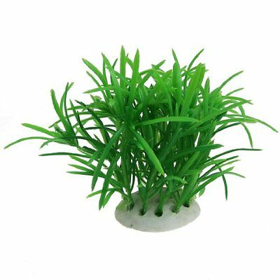 sourcingmap Plastic Fish Tank Water Plant Adorn, 3.5-inch, Green