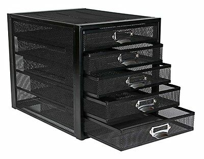 OSCO Mesh 5 Drawer Sorter - Black