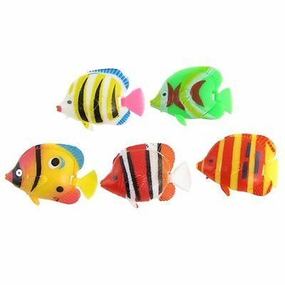 sourcingmap Plastic Fish Tank Tropical Fishes Ornament, 5 Pieces, Multicolor