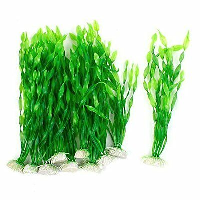 Sourcingmap Plastic Aquarium Simulated Water Plant Grass, 11.8-Inch, Green