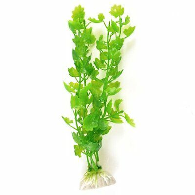 Sourcingmap Plastic Fish Tank Landscaping Decor Water Plant, 8-inch, Green