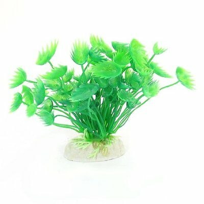 Sourcingmap Plastic Fish Tank Water Plant, 4.3-inch, 52 g, Green